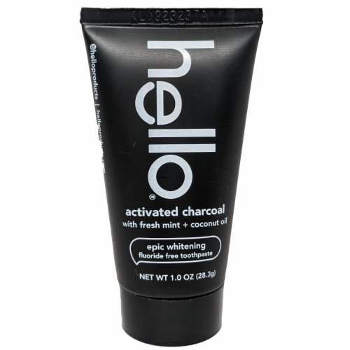 Hello Charcoal Whitening Toothpaste Perspective: front