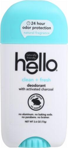 Hello Fresh + Clean Deodorant Perspective: front
