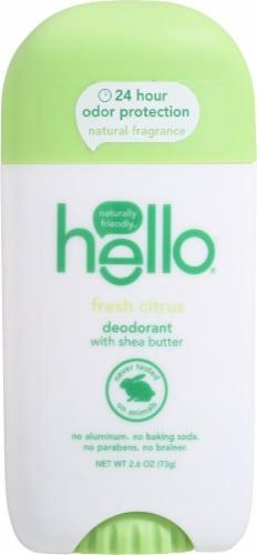 Hello Fresh Citrus Deodorant Perspective: front