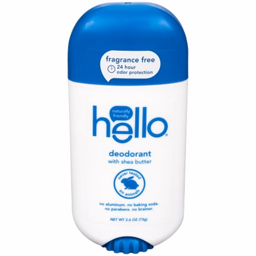 Hello Fragrance Free Deodorant Perspective: front