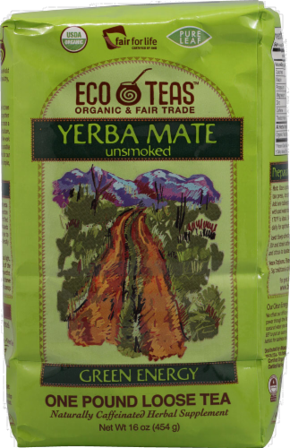 Eco Teas Organic Unsmoked Yerba Mate Perspective: front