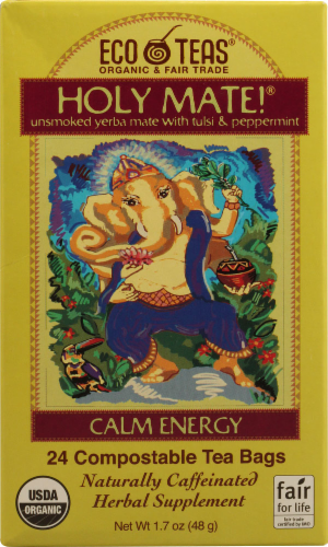 Eco Holy Mate Calm Energy Tea Perspective: front