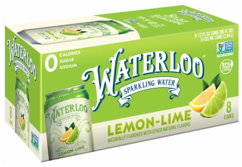 Waterloo Lime Sparkling Water Perspective: front