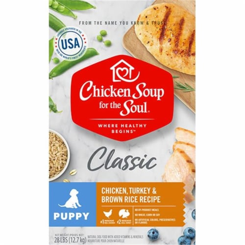 Chicken Soup 418417 No.28 Chicken Turkey & Brown Rice Recipe Adult Puppy Food Perspective: front