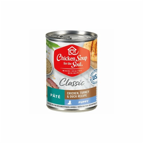 Chicken Soup for The Soul CK01271 13 oz Puppy Turkey & Duck Pate Dog Food, Case of 12 Perspective: front
