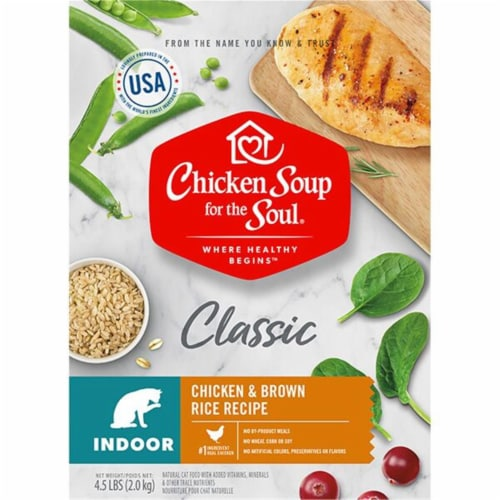 Chicken Soup 418440 No.4.5 Indoor Chicken & Brown Rice Recipe Cat Food Perspective: front