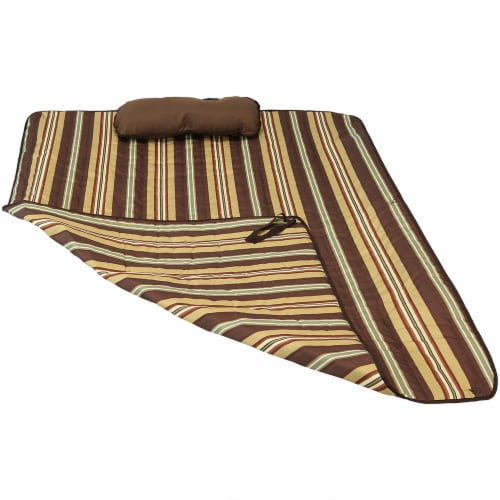 Sunnydaze Polyester Quilted Hammock Pad and Pillow Only Set - Desert Stripe Perspective: front