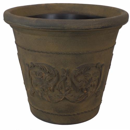 "Sunnydaze Arabella Outdoor Double-Walled Flower Pot Planter  - Sable -20""-Single Perspective: front"