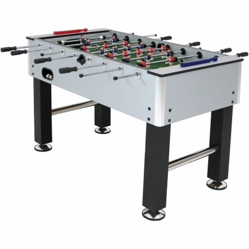 """Sunnydaze 55"""" Metallic Foosball Soccer Arcade Sports Table for Game Room Perspective: front"""