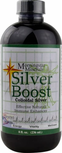 Morningstar Minerals  Silver Boost Colloidal Silver Perspective: front