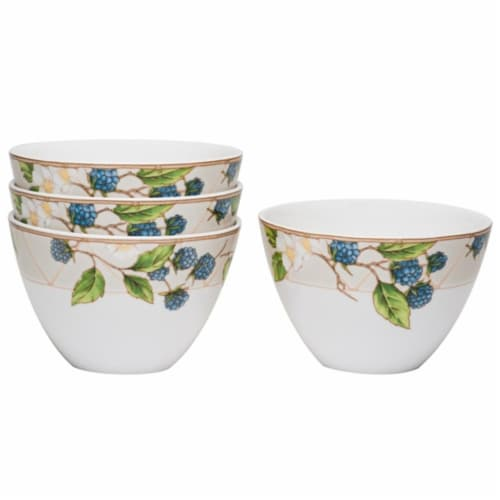 Red Vanilla FP005-421 Coupe Rice 5 in. Fruit Salad Bowls, Set of 4 Perspective: front