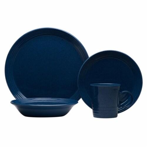 Red Vanilla CN302-016 Terrastone Aqua Blue Dinner Set, 16 Piece Perspective: front