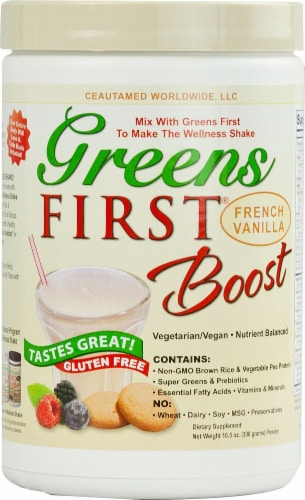 Greens First  Boost®   French Vanilla Perspective: front