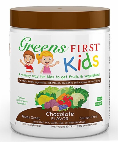 Greens First  Kids Superfood Drink Mix   Chocolate Perspective: front