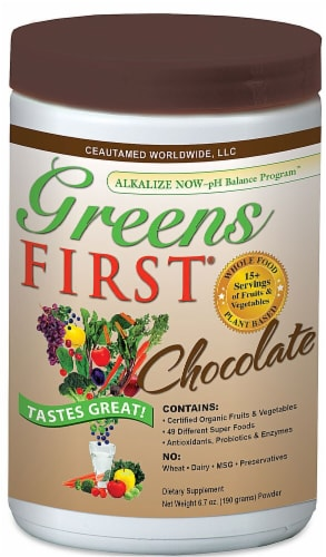 Greens First  Superfood Drink Mix   Chocolate Perspective: front