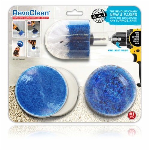 RevoClean  4 in. W Metal  Deep Clean Brush Set - Case Of: 1; Each Pack Qty: 4; Total Items Perspective: front
