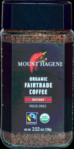 Mount Hagen Organic Fair Trade Instant Coffee Perspective: front