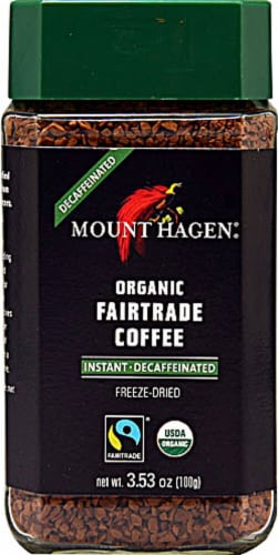 Mount Hagen  Organic Fair Trade Instant Coffee Decaffeinated Perspective: front
