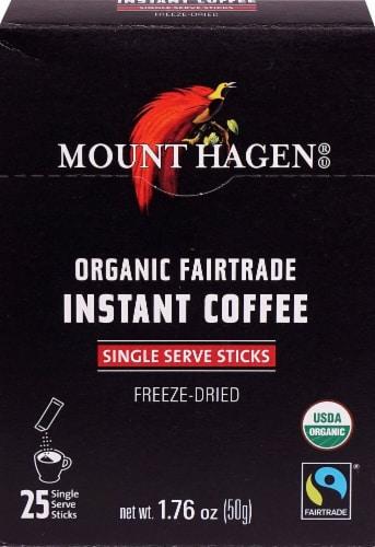 Mount Hagen Organic Instant Coffee Regular Singles Perspective: front