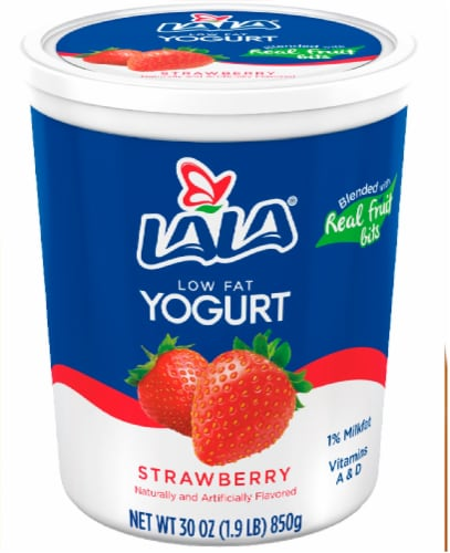 Lala Low Fat Strawberry Yogurt Perspective: front