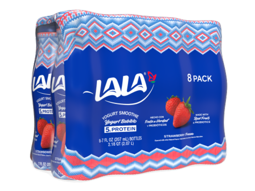 LaLa Strawberry Yogurt Smoothie Perspective: front