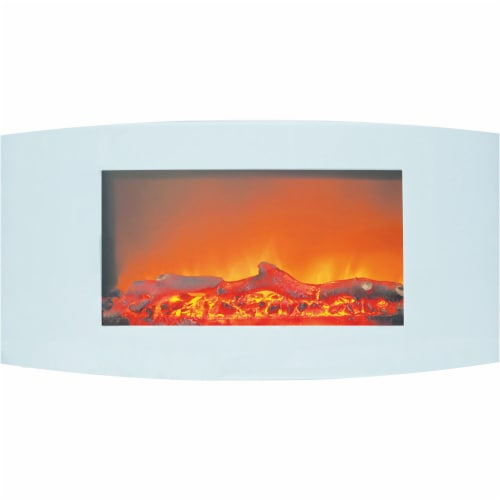Cambridge Callisto Wall-Mount Electric Fireplace Perspective: front