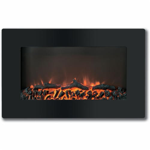 Hanover Fireside Wall-Mount Electric Fireplace Perspective: front