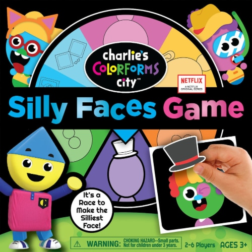 Colorforms® Charlie's Colorforms City Silly Faces Game Perspective: front