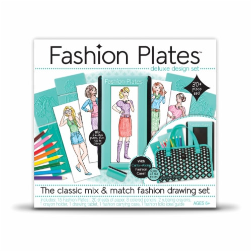 Fashion Plates Classic Styles Mix & Match Fashion Drawing Set Perspective: front
