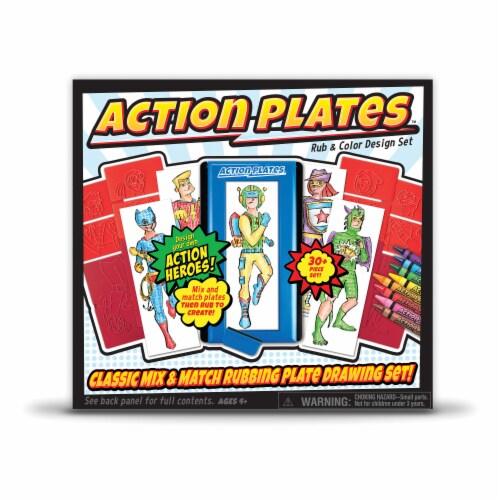 Kahootz Action Plates Rub & Color Design Set Perspective: front