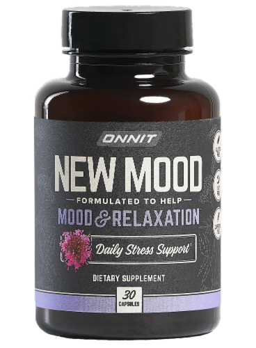 Onnit New Mood Dietary Supplement Tablets Perspective: front