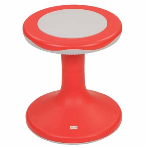 """Kaplan Early Learning 15"""" K'Motion Stool - Red Perspective: front"""