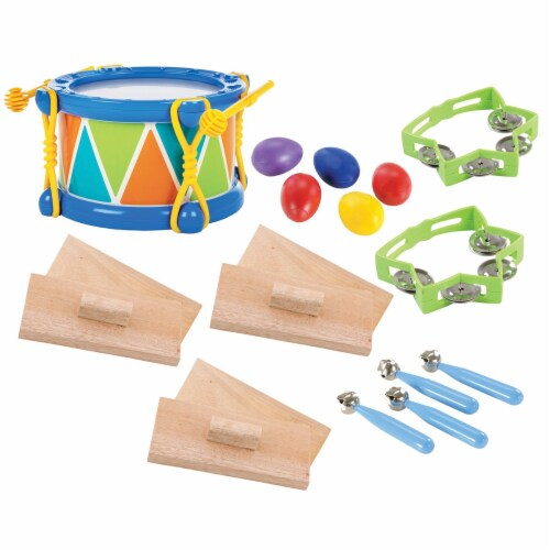 Kaplan Early Learning Toddler Rhythm Band Set of 5 Different Instruments Perspective: front