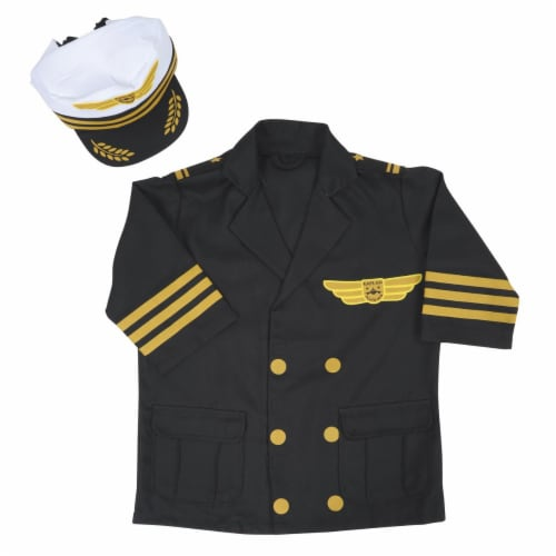 Kaplan Early Learning Airline Pilot Career Dramatic Play Dress Up Costume Perspective: front