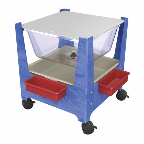 ChildBrite See-All Sand & Water Activity Center - Blue Perspective: front