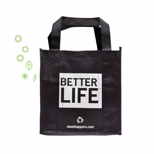 Better Life Reusable and Recyclable 6 Compartment Tote Bag and Cleaning Caddy Perspective: front