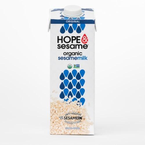 Hope & Sesame Original Organic Sesamemilk Perspective: front