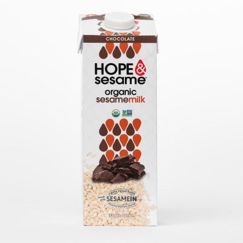 Hope & Sesame Chocolate Organic Sesamemilk Perspective: front