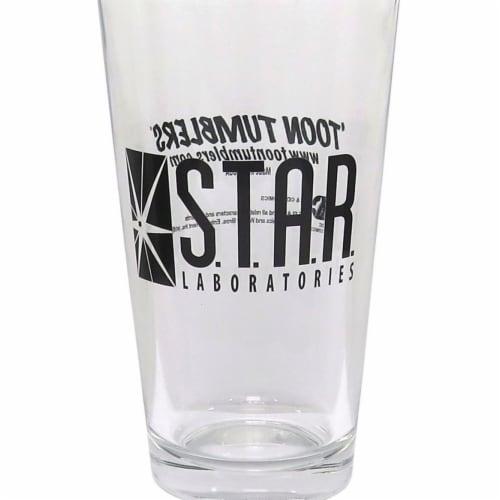Flash glsflshstarlbspnt Flash Star Labs Pint Glass Perspective: front