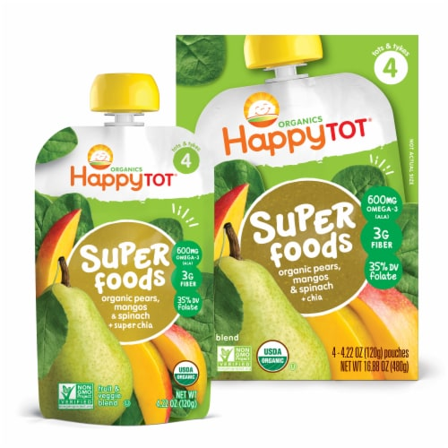 Happy Baby - Stage 2 Spin Mango Pear - Case of 4-4/4 OZ Perspective: front