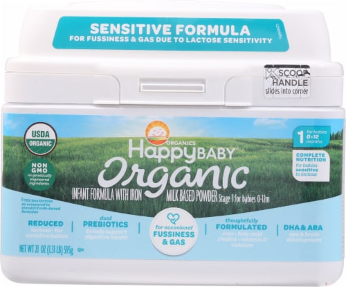 Happy Baby Organic Stage 1 Infant Formula Perspective: front