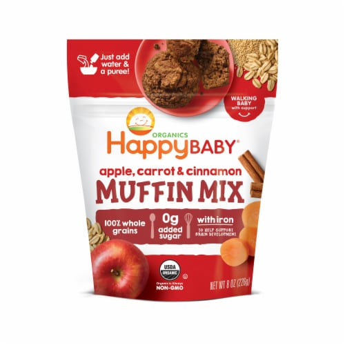 Happy Baby Organics Apple Carrot & Cinnamon Muffin Mix Perspective: front