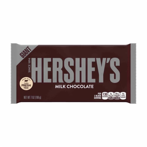 Hershey's Milk Chocolate Giant Candy Bars Perspective: front