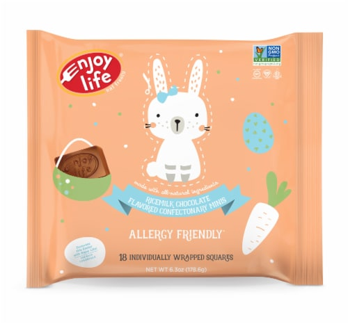Enjoy Life Ricemilk Chocolate Flavored Confectionary Mini Squares Perspective: front