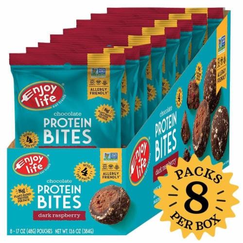 Enjoy Life Dark Raspberry Chocolate Protein Bites Perspective: front