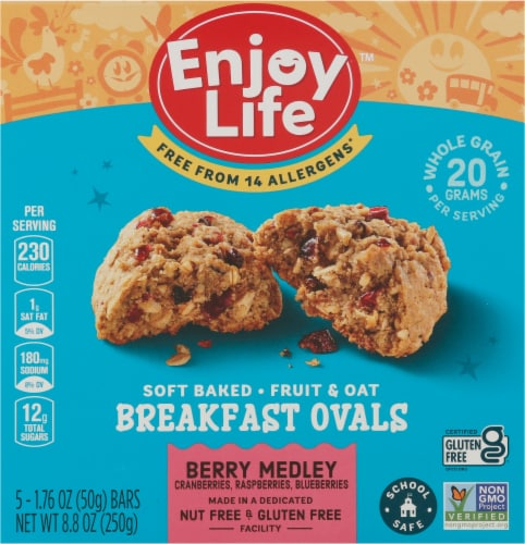 Enjoy Life Berry Medley Breakfast Ovals 5 Count Perspective: front