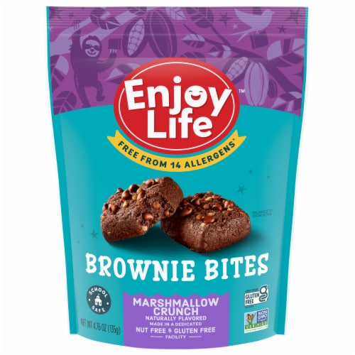 Enjoy Life Marshmallow Crunch Chocolate Brownie Bites Perspective: front