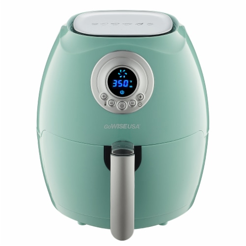 GoWISE USA GW22661 2.75-Quart Digital 50 Recipes for your Air Fryer Book, Mint Perspective: front