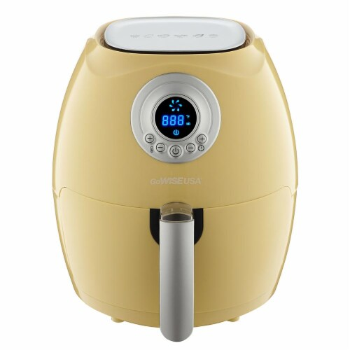 GoWISE USA 2.75-Quart Digital Air Fryer, Majestic Yellow Perspective: front