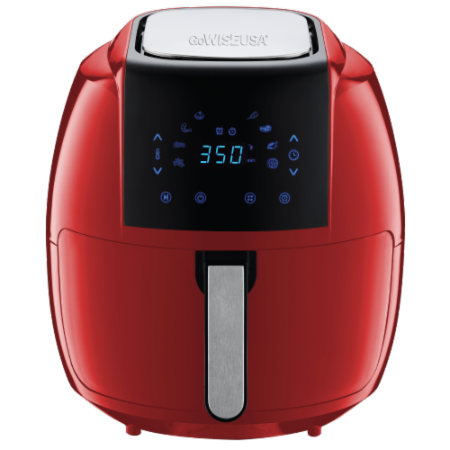 GoWISE USA 8-in-1 Digital Air Fryer, 7.0-Qt, Red Perspective: front